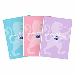 Oxford Campus Pastel Refill Pad 140 Page A4 Assorted