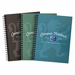 Oxford Campus Notebook A5 Wirebound Metallic