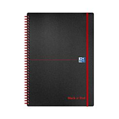 Oxford Black n Red A4 Notebook 140 Pages Wirebound PP Ruled