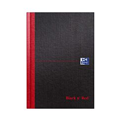 Oxford Black n Red A5 Notebook 192 Pages Casebound Hardback Ruled