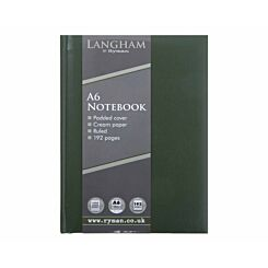Ryman Langham Notebook A6 192 Pages 96 Sheets Green