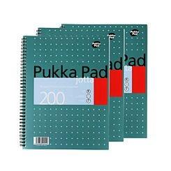 Pukka Metallic A4 Jotta 200 Page Pack of 3