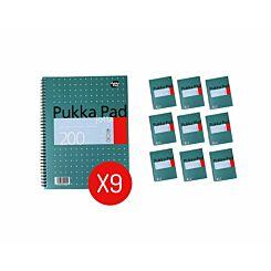 Pukka Metallic Jotta 200 Page A4 Pack of 9