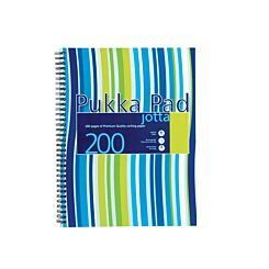 Pukka Jotta Pad A4 80gsm Ruled With Margin Wirebound 200 Pages 100 Sheets