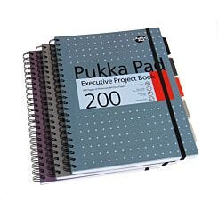 Pukka Executive Project Book A4 Pack of 3