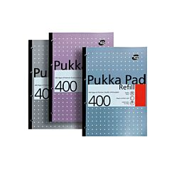 Pukka Refill Pad A4 400 Pages 200 Sheets Pack of 5