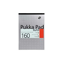 Pukka Refill Pad A4 80gsm Ruled With Margin 160 Pages 80 Sheets