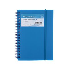 Ryman Colour Polypropylene Notebook A6 80 Pages 40 Sheets Blue