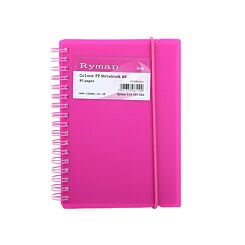 Ryman Colour Polypropylene Notebook A6 80 Pages 40 Sheets Pink
