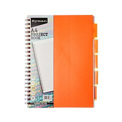 Ryman Colour Brights Project Book 250 Pages A4 5 Dividers