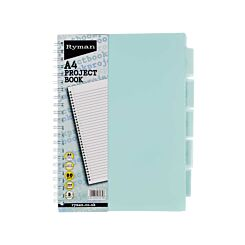 Ryman Pastel Project Book 250 Pages A4 with 5 Dividers