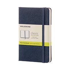 Moleskine Classic Hard Cover Notebook Pocket Plain Navy