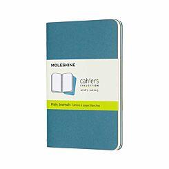 Moleskine Cahiers Notebook Pocket Plain Pack of 3 Brisk Blue