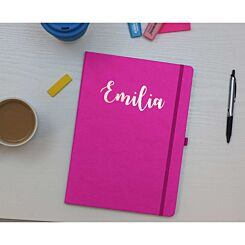 Ryman Personalised Soft Cover Medium Notebook in Copper Foil Pink