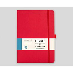 FORBES Classic Hard Cover Notebook Ruled A5 240 Pages Red