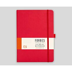 FORBES Classic Hard Cover Notebook Dotted A5 240 Pages Red