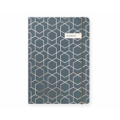 Matilda Myres Geometric Notebook Ruled A5 192 Pages Grey