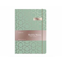 Matilda Myres Geometric Notebook Ruled A5 192 Pages Sage Green