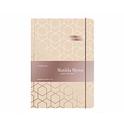 Matilda Myres Geometric Notebook Ruled A5 192 Pages Cream