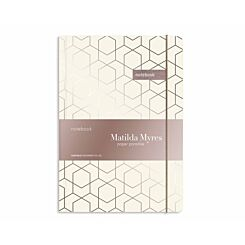 Matilda Myres Geometric Notebook Ruled A5 192 Pages Rose Gold Ivory