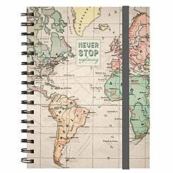 Legami A5 Spiral Notebook Travel