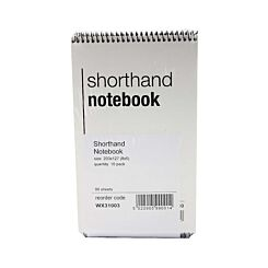 Whitebox Spiral Shorthand Notebook 80 Leaf Pack of 10