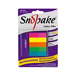 Snopake Tab Highlighters 45x12mm 125 Sheets