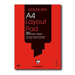 Goldline Layout Pad A4 50gsm 80 Sheets