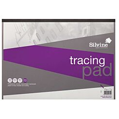 Silvine A3 Professional Tracing Pad 50 Sheets 90gsm