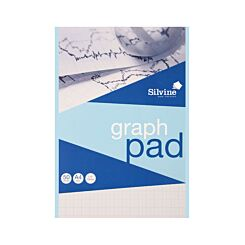 Silvine A4 Graph Pad 10mm 50 Sheets 85gsm Pack of 12