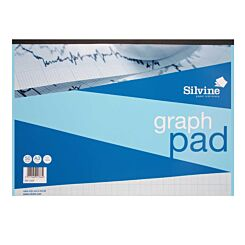 Silvine A3 Graph Pad 10mm 50 Sheets 85gsm