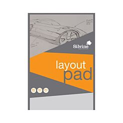 Silvine A4 Layout Pad 80 Sheets 50 gsm