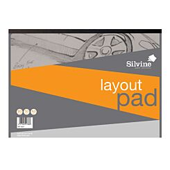 Silvine A3 Layout Pad 80 Sheets 50 gsm