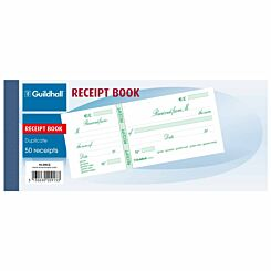 Exacompta Guildhall Duplicate Receipt Book 90x130mm Pack of 10