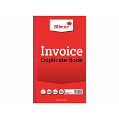 Silvine Duplicate Memo Book 611 Ruled and Perforated Invoice 100 Sheets