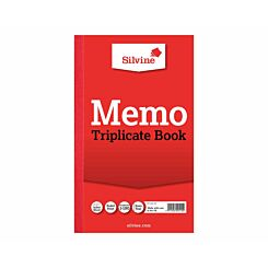 Silvine Triplicate Memo Book 605 Ruled and Perforated Feint 100 Sheets