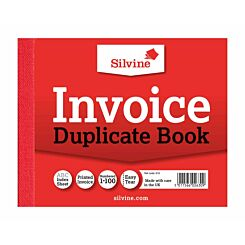 Silvine Duplicate Memo Book 616 Ruled and Perforated Invoice 100 Sheets