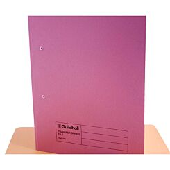 Transfer Spiral File Foolscap Pack of 50 Pink