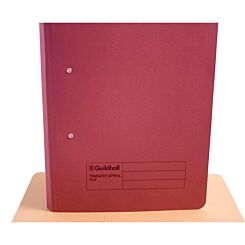Transfer Spiral File Foolscap Pack of 50 Red