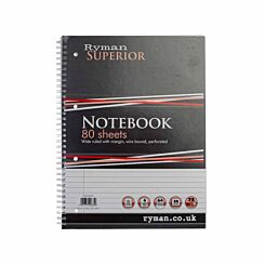Ryman Superior Refill Pad A4 75gsm Ruled Margin Pack of 5