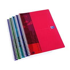 Oxford Trans Polypropylene Cover NoteBook A4 Ruled and Margin 180 Pages 60 Sheet Pack of 5