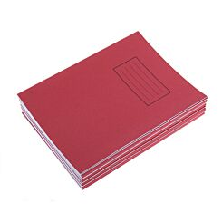 Silvine Exercise Book 9x7 75gsm Pack of 10 Red