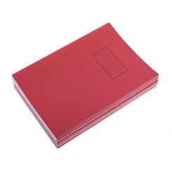 Silvine Exercise Book A4 Ruled 75gsm Pack of 10 Red