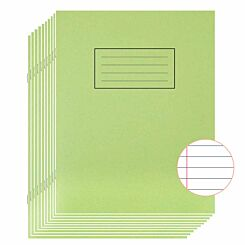 Silvine Exercise Book 9 Inch x 7 Inch Ruled 75gsm Pack of 10 Green