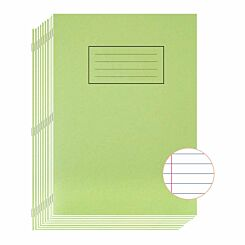Silvine Exercise Book A4 80 Page Ruled 75gsm Pack of 10 Green