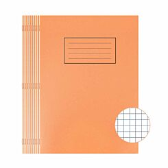 Silvine Exercise Book A4 80 Page Squared 75gsm Orange Pack of 10