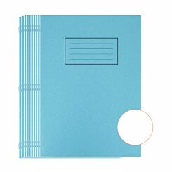 Silvine Exercise Book A4 80 Page Plain 75gsm Blue Pack of 10