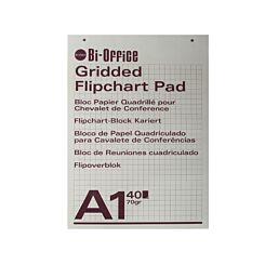 Bi-Office Gridded Flip Chart Pad A1 40 Sheet Pack of 5