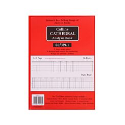 Collins Cathedral Analysis Book 69 Series 3 Debit 9 Credit Columns 69/3/9