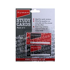 Ryman Study Cards Pack of 2